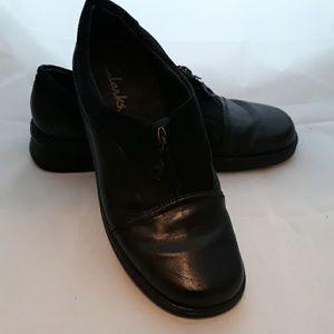 Clark's Black Zip Leather Shoes